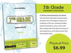 NEW RELEASE! 7th Grade: Growing Your Faith- http://blog.simplyyouthministry.com/simply-insider/new-7th-grade-a-30-day-devotional/