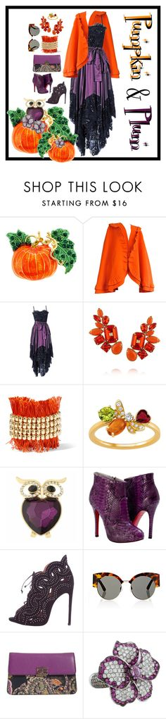 """""""PUMPKIN & PLUM Contest Entry"""" by hrhjustcuz ❤ liked on Polyvore featuring Mila Schön, Yves Saint Laurent, Valentino, Rosantica, Chaumet, Monet, Paolo Shoes, Kaleos and Etro"""