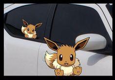 "Pokemon Eevee Anime 7"" Window Car Decal, Evolution, Pokemon Go, Sticker"