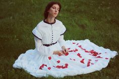 My 1860-63 sheer dress. Photo: Paulina Manterys