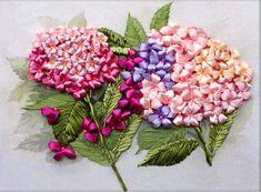 Ribbon Embroidery DIY Kit Flora Pattern Hyacinth Flower Blossom Spring Time…