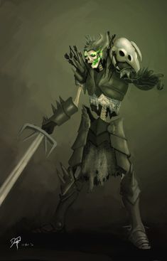 Skeleton Warrior Concept by KaineT ( http://kainet.deviantart.com/art/Skeleton-Warrior-Concept-185690041, 2010 )