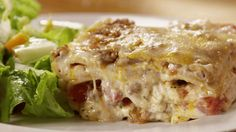 The most common cook's sauce becomes the key to this layered lasagna. A basic white sauce -- bechamel -- adds a rich, garlicky layer to this decadent pasta. See how to make it!