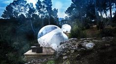 "The 100 Most Amazing, Unique, and Beautiful Hotels In The World - Attrap Reves Bubble Hotel, France: ""This extraordinary bubble hotel lets you sleep comfortably but still feel like a part of nature and the night sky. Glamping, Camping 3, Luxury Camping, Week End En Amoureux, Bubble Tent, Hotels In France, Unusual Hotels, Sleeping Under The Stars, Romantic Destinations"