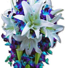 Loveeee! Def using blue galaxy orchids