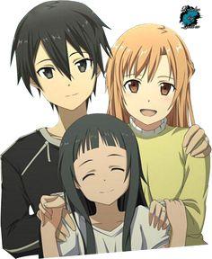 Render Asuna Kirito Yui SAO Sword Art Online - Sword Art Online ...