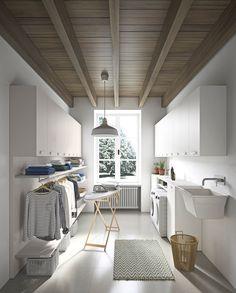 54 Amazing DIY Laundry Room Storage Shelves Ideas 54 Am… – Laundry Room İdeas 2020 Modern Laundry Rooms, Laundry Room Layouts, Laundry Room Remodel, Küchen Design, Home Design, Home Interior Design, Design Ideas, Room Interior, Laundry Decor