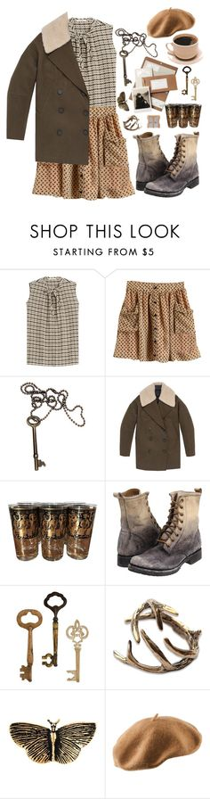 """""""Untitled #501"""" by lbenigni ❤ liked on Polyvore featuring Etro, Andrew Marc, Georges Briard, Frye, Home Decorators Collection, Yves Saint Laurent and H&M"""