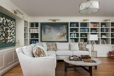 Kitchen soffits - lighting Interior and exterior paint color expert, Kristie Barnett (The Decorologist), will transform your house into a home. Home Staging, Living Area, Living Spaces, Living Room, White Sectional Sofa, Soffit Ideas, Built In Bookcase, Bookcases, Piano