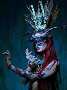 Absinthe Fairy Mask By Vincent Cantillon Absinthe Fairy, Gothic, Indian Photoshoot, Maila, Venetian Masks, Art Model, Headgear, Headdress, Oeuvre D'art