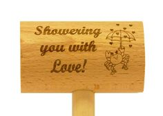 Showering You With Love Crab Mallet. This design could be used for baby or wedding showers!