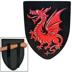 Dragon Foam Shield - Made from high quality Polyurethane Foam and featuring intricate details from end to end, this shield is perfect for your next LARP (Live Action Role Play) campaign. #LARPWeapons
