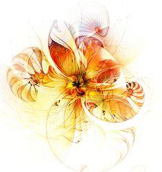 Petals of Gold / Fractal art