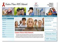 Diseño de sitio web para Eastern Maine Aids Network