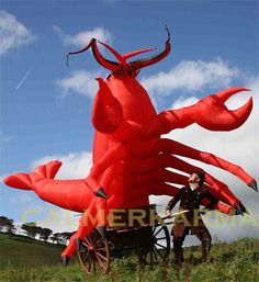 Under the Sea and All at Sea themed entertainment for weddings, corporate events and parties  Catch of the Day - Giant Lobster. Entertainment to hire across the UK inc Manchester, Cheshire, London, Birmingham, Wales and Brighton. www.calmerkarma.org.uk Tel:  020 3 602 9540