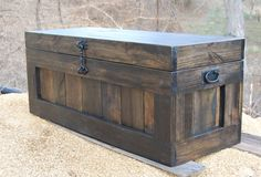 This is Our Large Ebony Hope Chest that offers the perfect place to sit and put on your shoe in the Entry and has great storage too. Move it