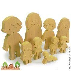 Купить или заказать Человечки. Набор деревянных фигурок. в интернет-магазине на Ярмарке Мастеров. 3 семьи, 3 расы. Папа, мама, дети подростки, дети 5-7 лет, дети 2-3 лет, ползунок. Негроидная, Европеоидная и Монголоидная расы. Фигурки разрабатывались совместно с известным психологом для песочной терапии. Человечки мало детализированы, но в то же время мы постарались придать каждой расе характерные особенности. Фигурки изготовлены из массива бука, толщина 12 мм.