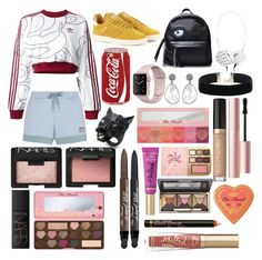"""Sin título #345"" by frichu on Polyvore featuring moda, adidas Originals, adidas, Alexis Bittar, NARS Cosmetics y Too Faced Cosmetics"