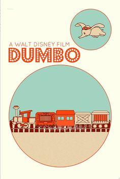Dumbo (1941) - Minimal Movie Poster by Claudia Varosio #minimalmovieposter #alternativemovieposter #1940smovies #claudiavarosio