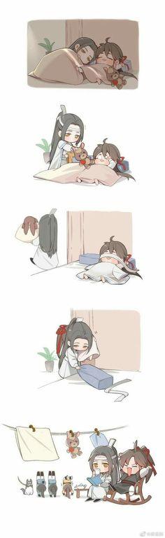 🌹 Mo Dao Zu Shi 🌹 ♡ Grandmaster Of Demonic Cultivation ♡ I don't ow… Anime Chibi, Manga Anime, Anime Art, Manga Cute, Ghibli Movies, Fanart, Cute Chibi, Anime Demon, Cute Gay