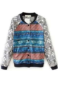 Tribal Ombre Bomber Jacket
