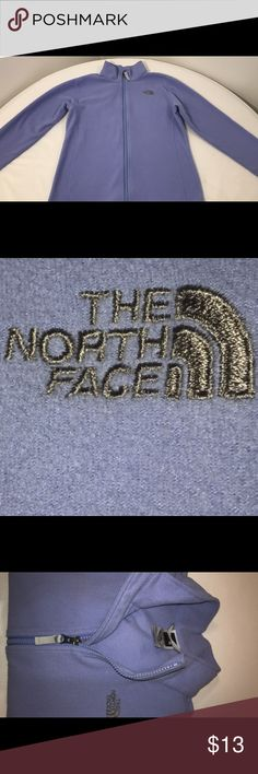 """Girls 14-16 NORTH FACE Fleece Jacket Girls youth lRge 14-16 north face fleece jacket  Zip up- collared  Purple lilac lavender  Nice fleece jacket for a youth girl 14-16 Actual measurements-  Entire length- 22"""" Sleeve length from shoulder seam- 21"""" Width across bust- underarm to underarm- 18"""" across North Face Jackets & Coats"""