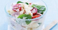 Stuck for lunch box ideas? Try this pasta salad for a quick and tasty midday meal.