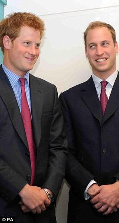 Prince William and Prince Harry at the races in 2011