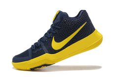 Discount 2018 Kyrie 3 III CAVS Midnight Navy Gold Irving Shoes 2018