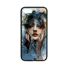 iPhone 7 Phone Case Blue mysterious goddess creative images Phone Case Pattern Print Hard Shell Phone Protection Case -- Awesome products selected by Anna Churchill