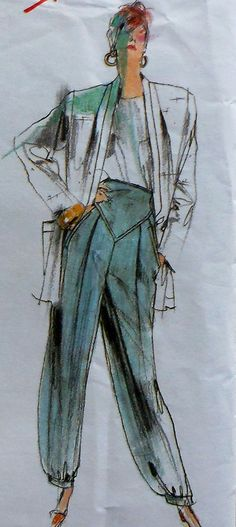 80's Vogue Issey Miyake Jacket, Skirt, and Pants Sewing Pattern