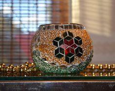 Handmade Glass Mosaic Candle Holder 6