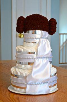 Star Wars Diaper Cake Princess Leia Baby By Julies2CuteCreations