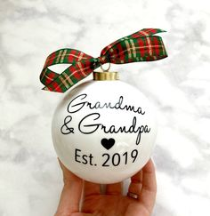 Pregnancy Announcement Christmas Ornaments Grandma & Grandpa | Etsy