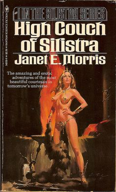 """1977 Bantam. (3rd printing, 1981)    Cover art by Lou Feck.    From the back cover: """"Her sensuality was at the core of her world. Her quest was in galaxies beyond the civilized stars. Somewhere deep in the heavens of a terribly distant tomorrow was the one man whose will conquered her own."""""""