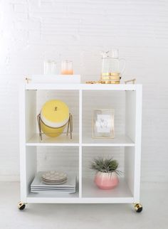 IKEA Kallax shelves and shelving units are the best canvas for creating! Kallax shelves are so universal that you can get almost anything from them . Gorgeous Furniture, Ikea Diy, Ikea Shelves, Diy Furniture, Ikea Hack, Ikea, Ikea Bookshelves, Home Decor, Home Diy