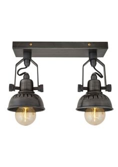 Vintage Adjustable Double Swivel Spotlight Flush Mount by Industville - Lime Lace £99 #industrial #lighting #light #retro