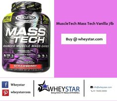 MuscleTech #MassTech Vanilla 7lb!!! Mass-Tech - More Protein, Better-Quality Calories, Bigger Results!