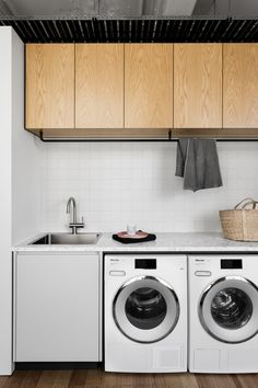 Cantilever for The Design Files Open House — Kitchen Renovation & Custom Kitchen Designs Small Laundry Rooms, Laundry In Bathroom, Laundry Cupboard, Laundry Room Inspiration, Laundry Room Organization, Up House, Laundry Room Design, The Design Files, Kitchen Interior