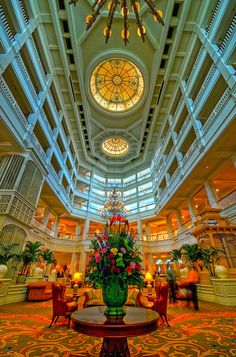 Disney Resorts -- The Grand Floridian Lobby