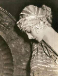 Authentic 1920s Beaded Art Deco Bridal Flapper Headpiece Bohemian Art Nouveau Beaded Tassel Crystal Costume  Headdress. $358.00, via Etsy.