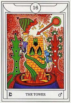 The Tower - Golden Dawn Magical Tarot
