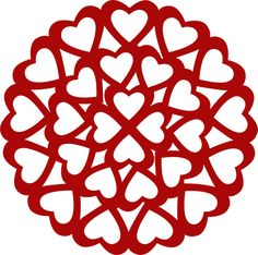 Designer Cuts : svg file - HEART DOILY