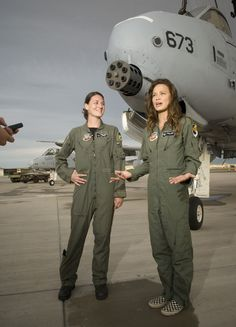 Moon Bloodgood and an anonymous pretty pretty flight suit princess where they were shooting part of Terminator Salvation...