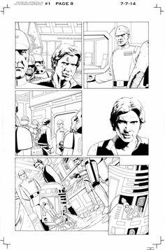 Star Wars #1 p.8 by John Cassaday *