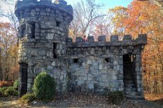 This castle may be compact, but it's a spectacular symbol of strength and lasting legacy. Real Castles, Forest View, Dome House, Castle House, Stone Houses, Romantic Getaways, New Jersey, Hiking Trails, Abandoned Places