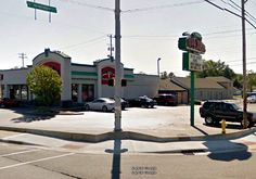 Papa John's Pizza - Seymour, Indiana - At this Papa John's Pizza location, several witnesses have reported an apparition in a blue uniform and knocking sounds coming from the walls. The knocks seemed to come from the empty store adjacent to Papa John's.
