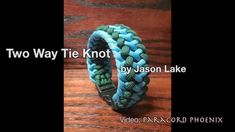The Two Way Tie Bracelet (Mad Max - 4 strand core) design by Jason Lake....