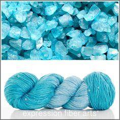 Expression Fiber Arts Yarn - AQUA CRYSTAL SEQUINED SILK WORSTED YARN, $35.00 (http://www.expressionfiberarts.com/products/aqua-crystal-sequined-silk-worsted-yarn.html)