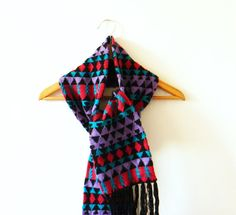 Warm Vintage Geometric Scarf by thehappyforest